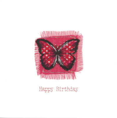 1514 Red Spotted Butterfly