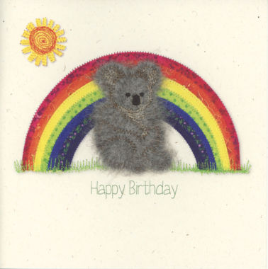 Photography of Koala with Rainbow