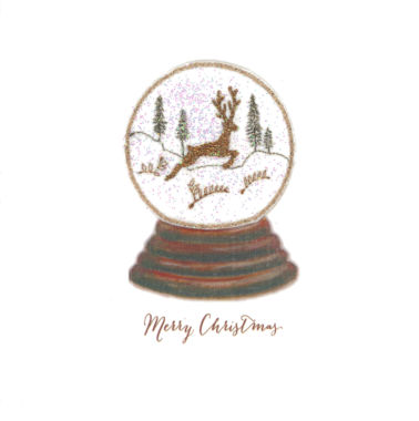 Photography of Snow Globe - Vintage Leaping Stag
