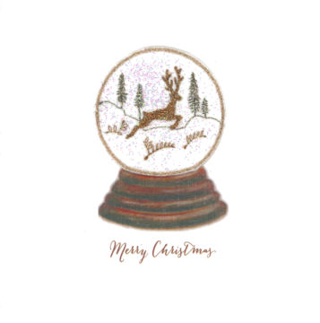 Snow Globe - Vintage Leaping Stag