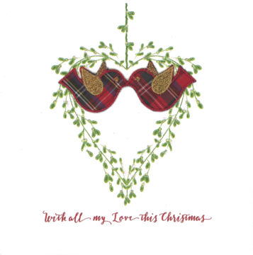 Mistletoe & Tartan - Kissing Birdies