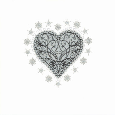 Photography of Silver Glitter Christmas Filigree Heart