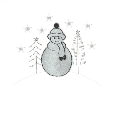Photography of Silver Glitter Christmas Snowman