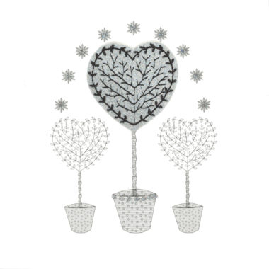 Photography of Silver Glitter Christmas Heart Tree
