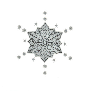 Photography of Silver Glitter Christmas Snowflake