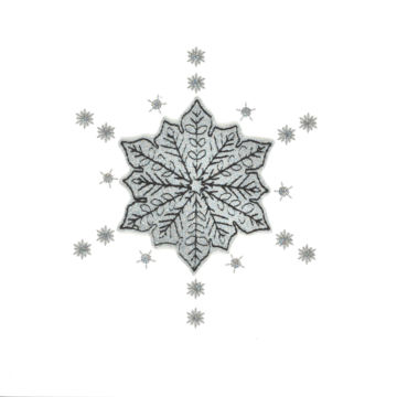 Silver Glitter Christmas Snowflake