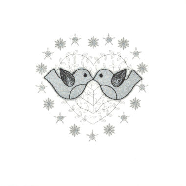 Photography of Silver Glitter Christmas Love Birds