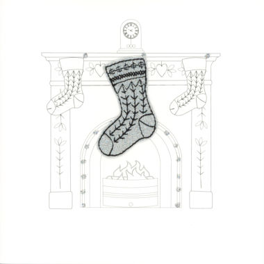 Photography of Silver Glitter Christmas Stocking