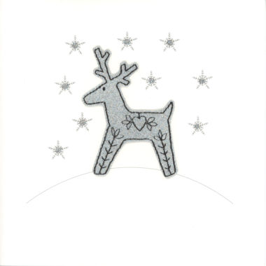 Photography of Silver Glitter Christmas Reindeer