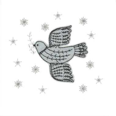 Photography of Silver Glitter Christmas Dove