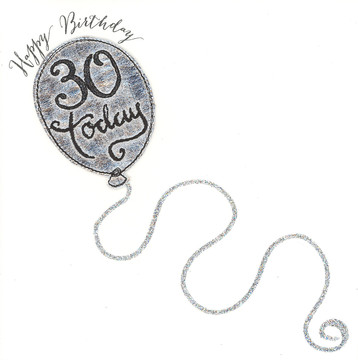 Watershed Birthday Silver Balloon