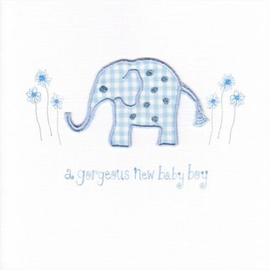 Photography of Blue Gingham Elephant