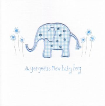 Blue Gingham Elephant