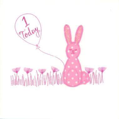 Photography of Pink Spotty Rabbit with balloon