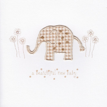 Cream Gingham Elephant
