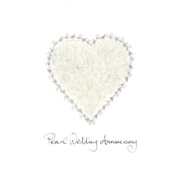 Ivory Filigree Heart
