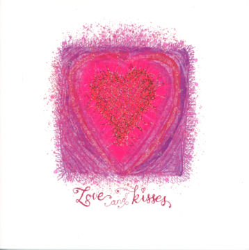 Pink Fluffy Scribble Heart
