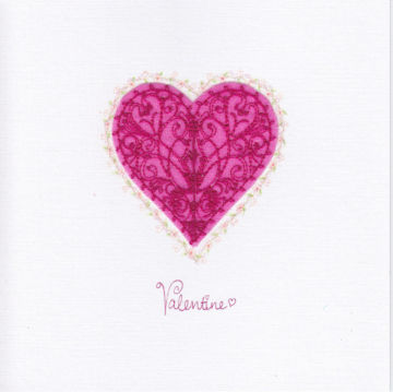 Pink Filigree Heart