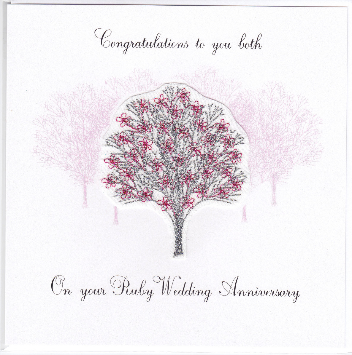 Ruby anniversary tree