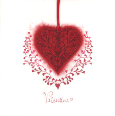 Photography of Valentine Red Filigree Heart
