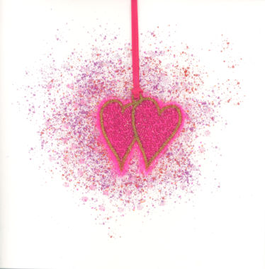Photography of Bright Pink Double Hearts